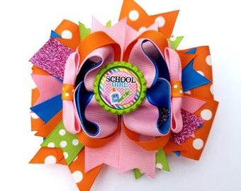 School hair bow, Back to school bow, School hair bow for girls, school girl, Boutique school hair bow