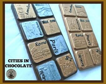 Chocolate Gift for Traveller/World Cities/CityTravel/Business/Property/Corporate/pilot/flight/Man/woman/Dad/Husband/Boyfriend/travelling