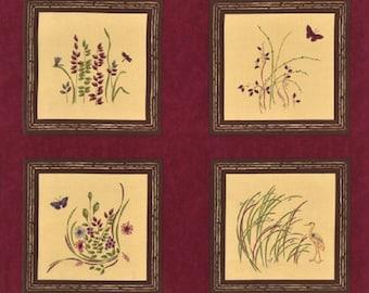 Enchanted Pond Fabric Panel / Moda Fabric Blocks by Holly Taylor