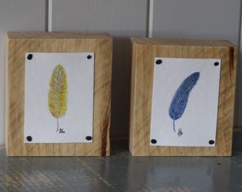 Original Gouache Painting - Little Feather's