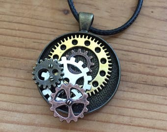 Steampunk Cluster Necklace