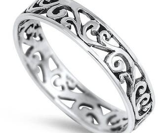 Celtic Beach Silver Toe Ring
