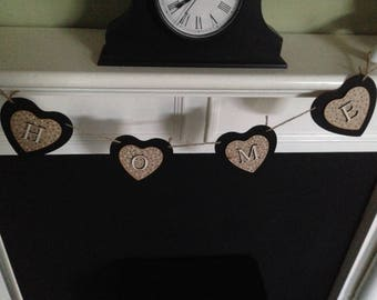 Home Wooden Bunting Personalised
