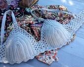 RESERVED Crochet bras, Crochet Bikini, Bra Top,  bikini, swimsuit,  gift for woman, unique gifts for woman