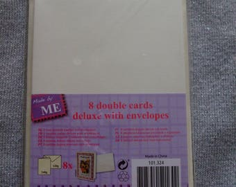 Kits 8 folded cards of luxury with 8 envelopes (A6 size)