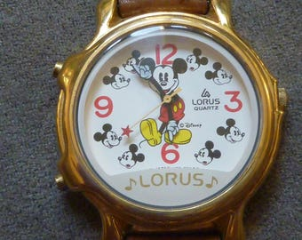 Musical  2 Songs Lorus Mickey Mouse Watch