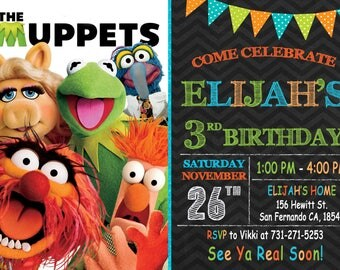 Muppets Invitation Printable, Muppets Birthday Party