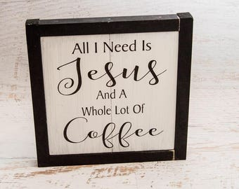 Coffee Kitchen Decor | Wood Sign | Framed Wall Art | Birthday Gift | Coffee Themed Wall Art | Wall Hanging | Holiday Gift For Her