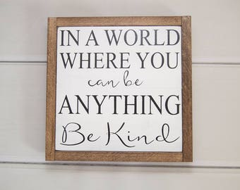Inspirational Wall Art | Farmhouse Wall Decor | Inspirational Gift | Rustic Wall Decor | Wood Sign | Framed Wall Art | Christmas Gift