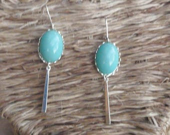 """""""Turquoise"""" lace earring"""