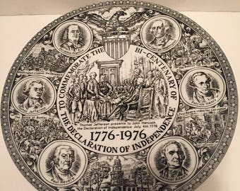 """10"""" Declaration of Independence plate"""