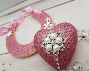 Flower girl, bridesmaid, Pomander, heart,  kissing ball, Wedding Decor
