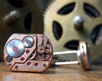OMEGA Vintage Watch Movement Cufflinks