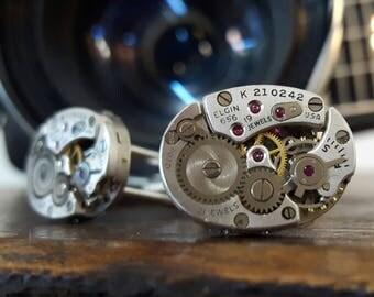 Vintage Elgin Watch Movement Cufflinks