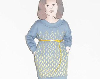 "Winter Dress ""Glitter"" – bio-sweat-bio-rib"