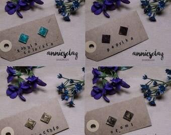 #Resinatura earrings (stud)