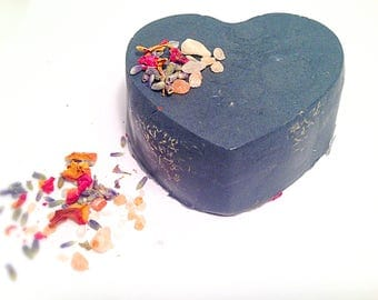 Activated Charcoal Detox Soap Charcoal Soap Acne Soap Oily Skin Soap Rose Lavender Essential Oil Soap
