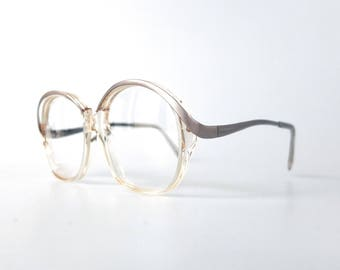 1970's clear/translucent acetate glasses frame