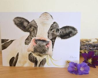 Cow Print Card - A5 Greeting Card