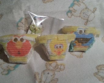 "4 piece Mini silicone reborn Baby Diapers Set 4""-5"""