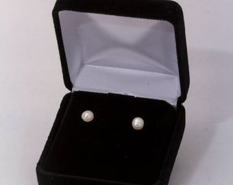 Cultured Pearl Studs, Wedding Jewelry, Classic Jewelry