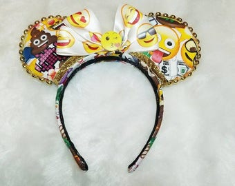 Emoji Inspired Minnie Ears, Emoji Disney Ears, Emoji Ears