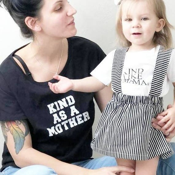 SET, KIND as a MOTHER, Kindness Set, Mama and Me Set, Kindness Shirts, Kindness Tops , Mommy & Me, Mom and Baby