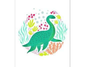 Lochness Monster Art Print   Nessie