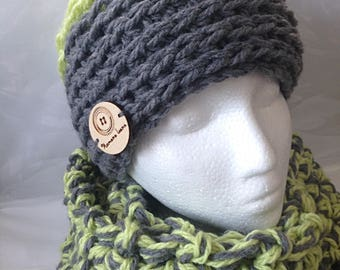 Hat, bonet and endless scarf set