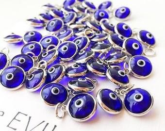 PROMO Evil eye charm   blue evil eye beads   glass evil eye charms   evil eye beads connectors   turkish evil eye jewelry   evil eye necklac