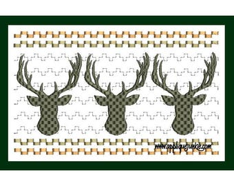 Sew Sassy Tee's Faux Smocking Smocked Deer Head Hunting Embroidered T-Shirt Babies or Kids T-shirt Baby Shower Funny Baby Sayings