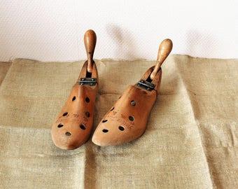 Arthur Jacoby houten schoenlepel vouwen schoen boom Duitsland, Collectible houten schoen formulier jaren 1930 schoenmaker schoen schimmel, Vintage schoenmaker Tool Berlijn