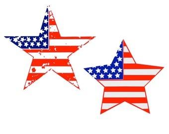 Patriotic Star SVG USA Flag SVG America
