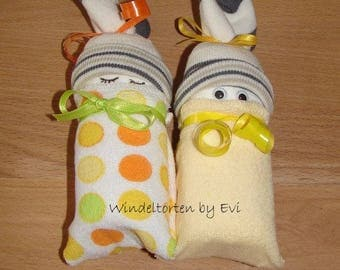 Diaper babies/Windelbabies neutral/unisex, baby gift birth