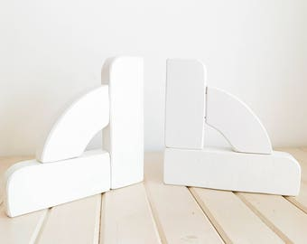 White Corbels, Bookends FREE SHIPPING