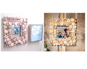 SM Wood Coin Picture Frame/Mirror