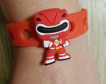 10  Power Ranger Silicone Bracelets Party Favors