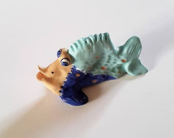 """Lionfish"" ceramic fish / / Figurine / / fun fish / / fish Collection / / gift fish / / gift dad fisherman / / April fool"