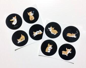 Casual Corgi Stickers
