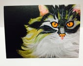 Cat A6 size greeting card...