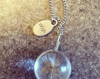 Make a wish necklace dandelion seed wishes