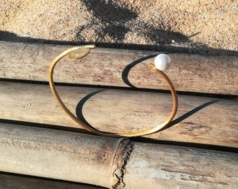 Bangle Circle, Geometrical Bangle, Gift for Women, Gold Bangle, Geometric Jewelry, Minimal Bangle, Gold Jewelry, Minimal Jewelry