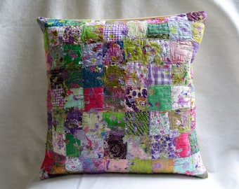 Spring patchwork cushion