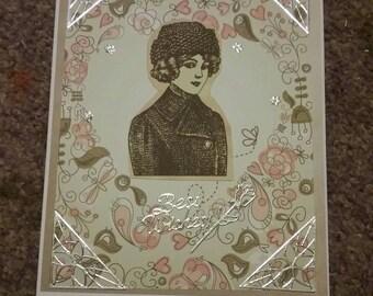 Vintage best wishes card