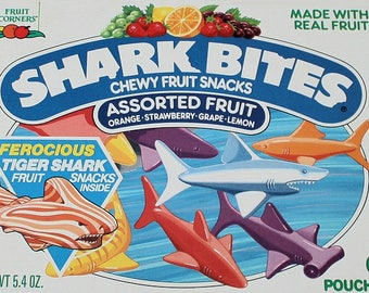Shark Bites Fruit Snacks Magnet