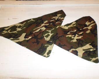 Camouflage Print Over the Collar Dog Bandanna, Pet Bandanna, Dog Scarf, Cat Bandanna, Pet Collar, Dog Clothing