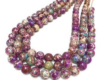 8mm Aqua Terra Jasper Beads,Imperial Jasper,Round Beads,Gemstone Beads,Wholesale Beads