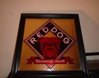 """Vintage Red Dog Beer Mirror 18 1/2"""" x 18 1/2"""""""