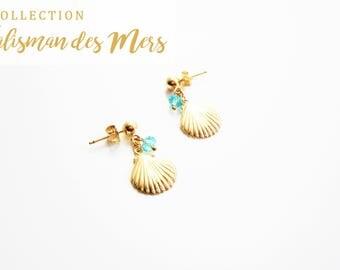 Earrings 14 k gold plated sea Talisman