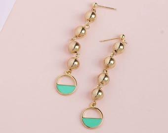 Gold Ball Earrings / gold earrings summer outdoors summer party dainty earrings Gold dangle earrings gold drop earrings gift for her